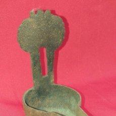 Antigüedades: CANDIL DE CHAPA DE HIERRO SIGLO XIX. Lote 253302200