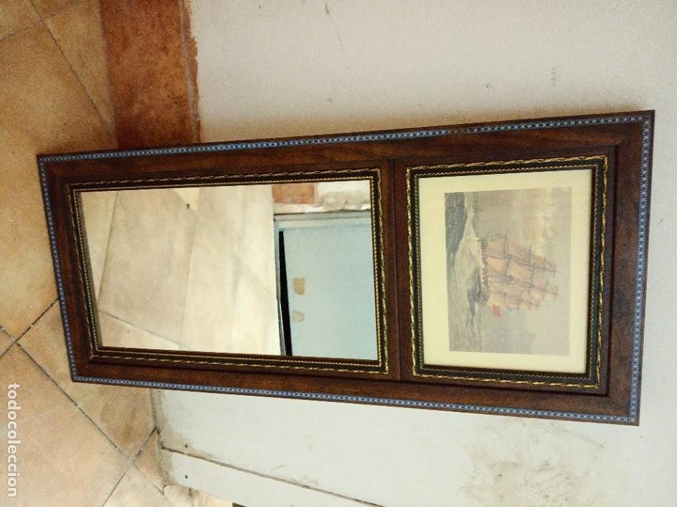 Antigüedades: Espejo Trumeau con lámina fragata - Foto 8 - 253353265