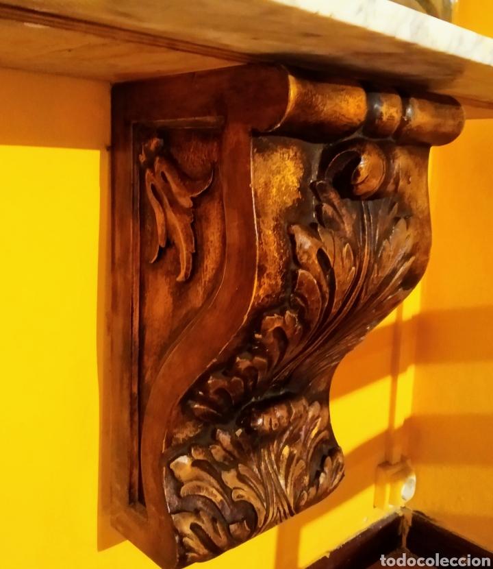 MÉNSULA + MÁRMOL (Antigüedades - Muebles Antiguos - Ménsulas Antiguas)