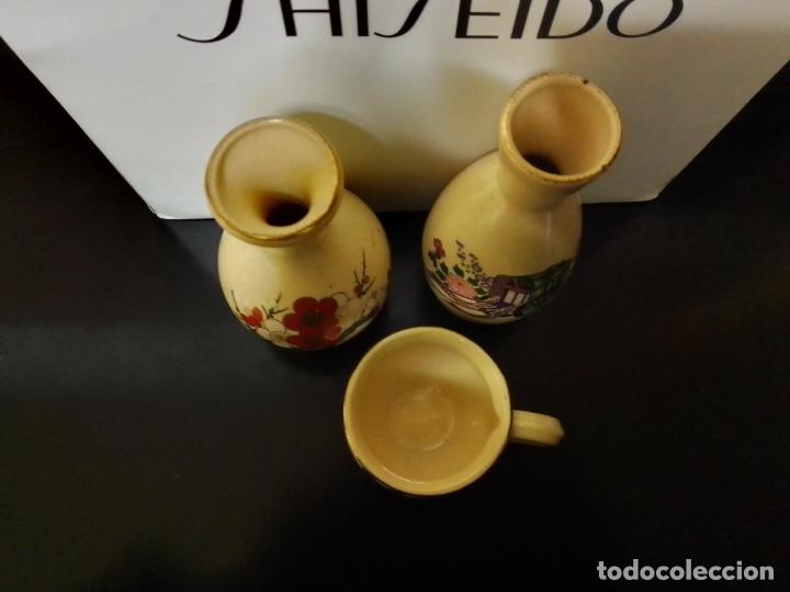 Antigüedades: Satsuma Japan. Tres bonitas piezas con decoración variada . - Foto 2 - 253358920