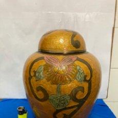 Antigüedades: GRAN TIBOR DE BRONCE ESMALTADO CLOISENNÉ,. Lote 253359395
