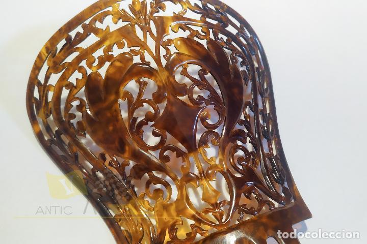 Antigüedades: Peineta antigua - 19cmx12cm - Foto 4 - 253426245