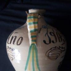 Antigüedades: SOBERBIO JARRON PUENTE DEL ARZOBISPO. RESTAURADO Y LAÑADO. FECHADO 1903. 43 CM ALTURA. 33 DIAMETRO. Lote 253427980