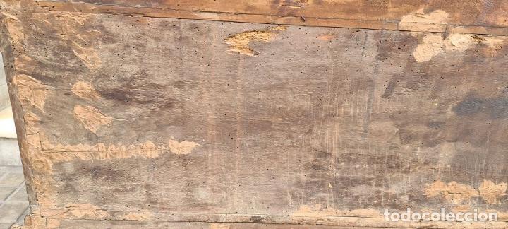 Antigüedades: ARCÓN DE NOVIA CATALÁN DE ESTILO CASSONE. MADERA DE NOGAL TALLADA. SIGLO XVIII. - Foto 37 - 253438390