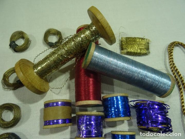 Antigüedades: Carretes Hilo Metalico - Foto 2 - 253442070
