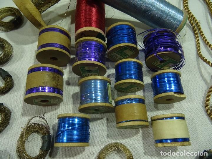 Antigüedades: Carretes Hilo Metalico - Foto 4 - 253442070