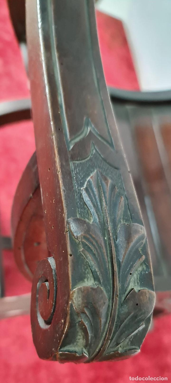 Antigüedades: PAREJA DE SILAS JAMUGA. MADERA DE NOGAL TALLADO. ESTILO BARROCO. SIGLO XIX. - Foto 22 - 253454590