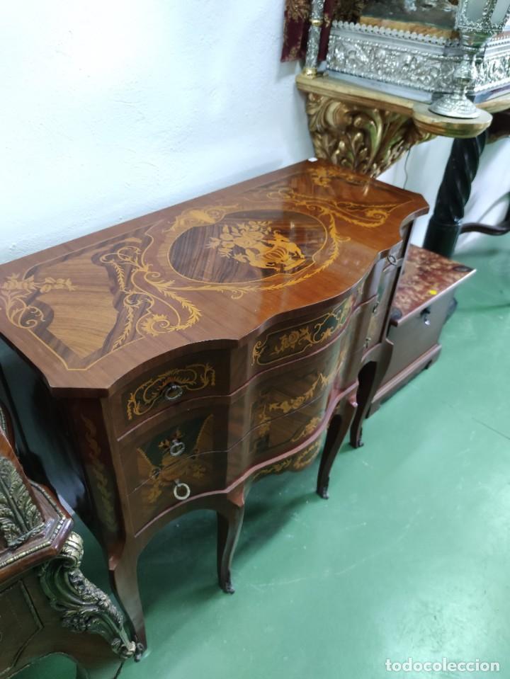 Antigüedades: Pareja consola mueble marquetería - Foto 2 - 253454915
