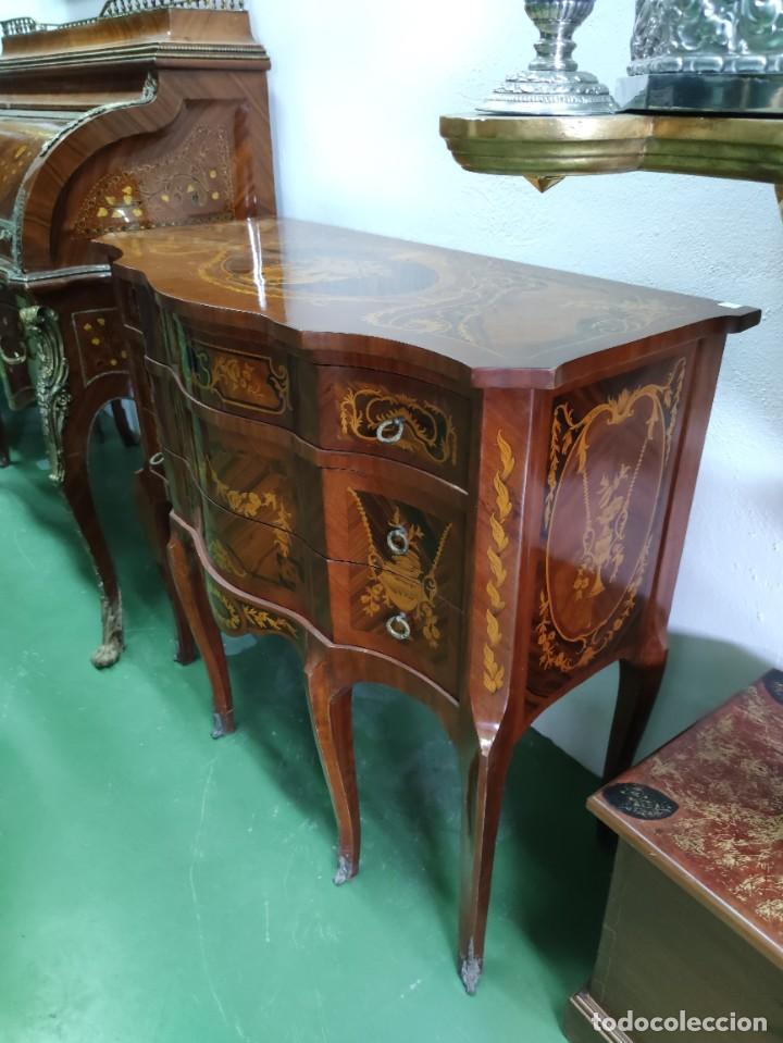 Antigüedades: Pareja consola mueble marquetería - Foto 3 - 253454915