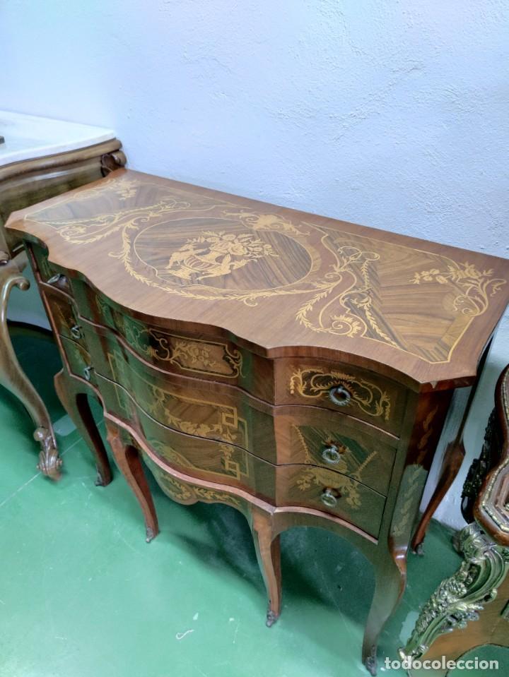 Antigüedades: Pareja consola mueble marquetería - Foto 4 - 253454915