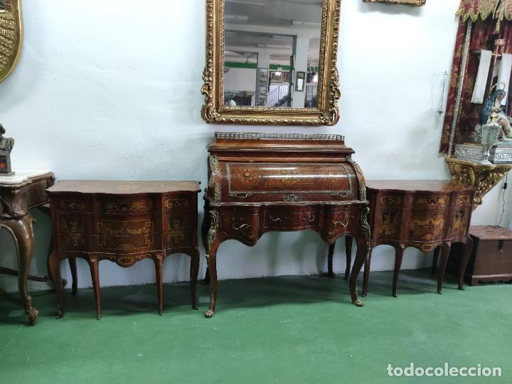 Antigüedades: Pareja consola mueble marquetería - Foto 5 - 253454915
