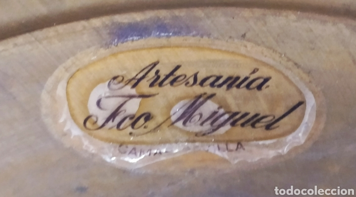 """Antigüedades: Macetero de Pié de LATÓN; Artesanía """"Fco. Miguel"""", Camas (SEVILLA). Sello Identificativo. - Foto 13 - 253468790"""