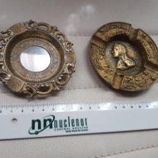 Antigüedades: DOS ANTIGUOS CENICEROS. Lote 253471370