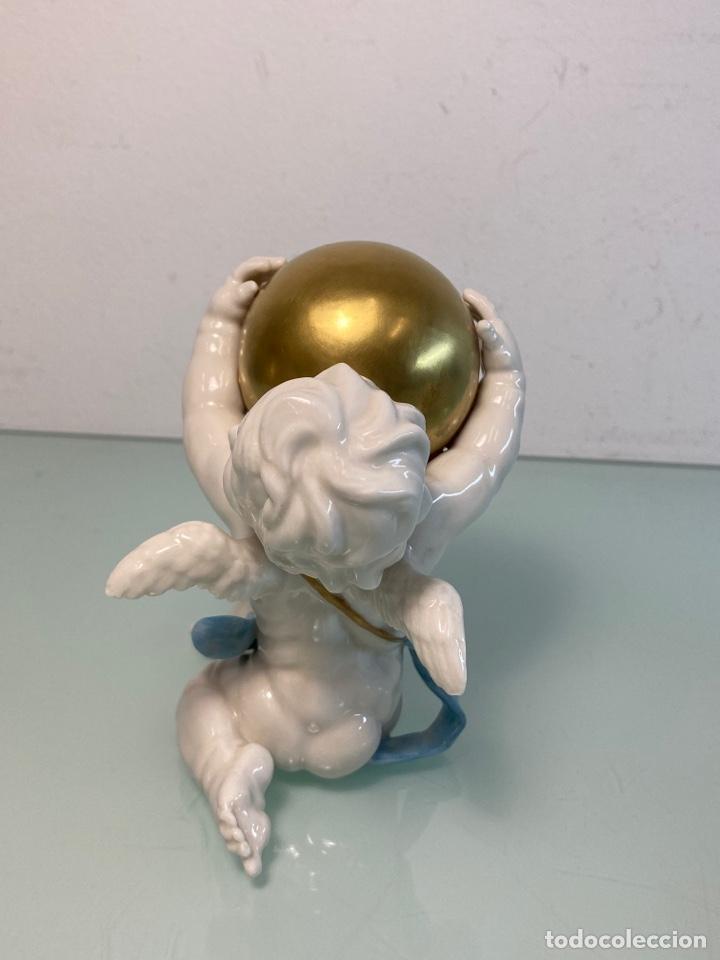 Antigüedades: Figuras de ángeles de porcelana Algora - Foto 3 - 253479465