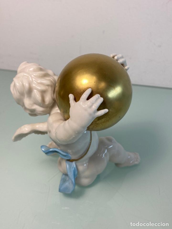Antigüedades: Figuras de ángeles de porcelana Algora - Foto 4 - 253479465