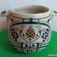 Antigüedades: MACETERO ART NOVEAU ESMALTADO. Lote 253532850