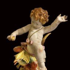 Antigüedades: EXCEPCIONAL ÁNGEL DE ALGORA, 25 CM.. Lote 249069690