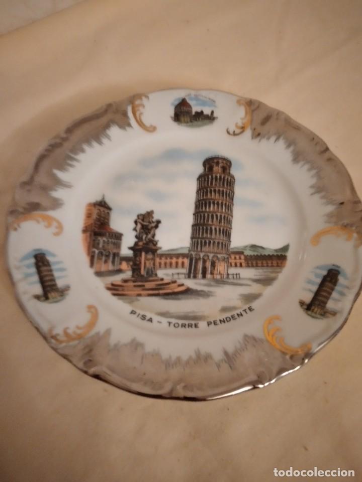 BONITO PLATO DE PORCELANA CON IMAGEN DE LA TORRE DE PISA,WINTERLING SCHUWARZEMBACH BAVARIA GERMANY (Antigüedades - Porcelana y Cerámica - Alemana - Meissen)