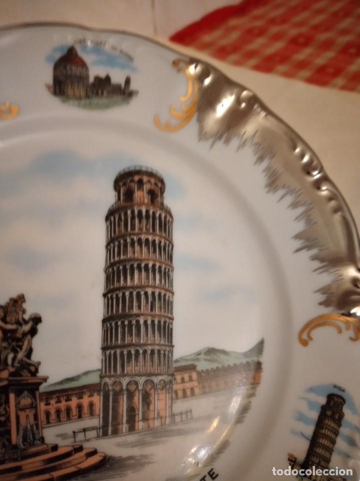 Antigüedades: Bonito plato de porcelana con imagen de la torre de pisa,winterling schuwarzembach bavaria germany - Foto 2 - 253559105