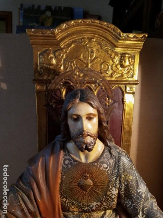 Antigüedades: TRONO DE JESUS - OLOT . - Foto 2 - 253618030