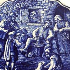 Antiquités: PLATO CERÁMICO DE DELFT AÑOS 60. BOCH FRERES. LA LOUVIERE. BÉLGICA.. Lote 253642115