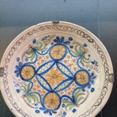 Antigüedades: TALAVERA, ANTIGUO PLATO HONDO SIGLO XIX RARO DE VER 26 CM DIÁMETRO. Lote 253702620