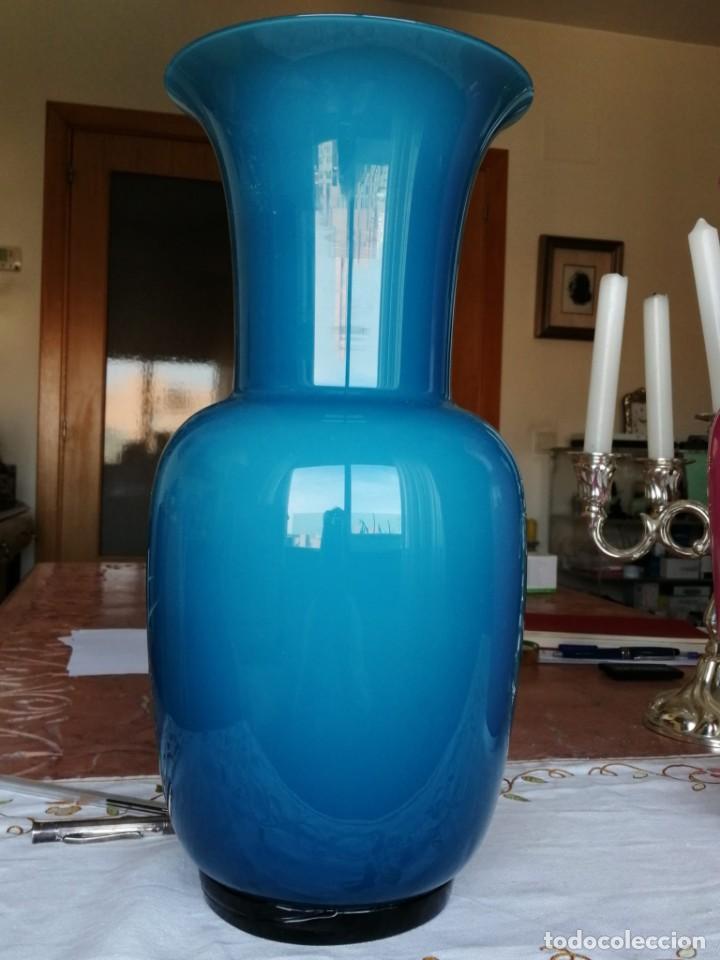 JARRON DE CRISTAL DE MURANO SOPLADO (Antigüedades - Cristal y Vidrio - Murano)