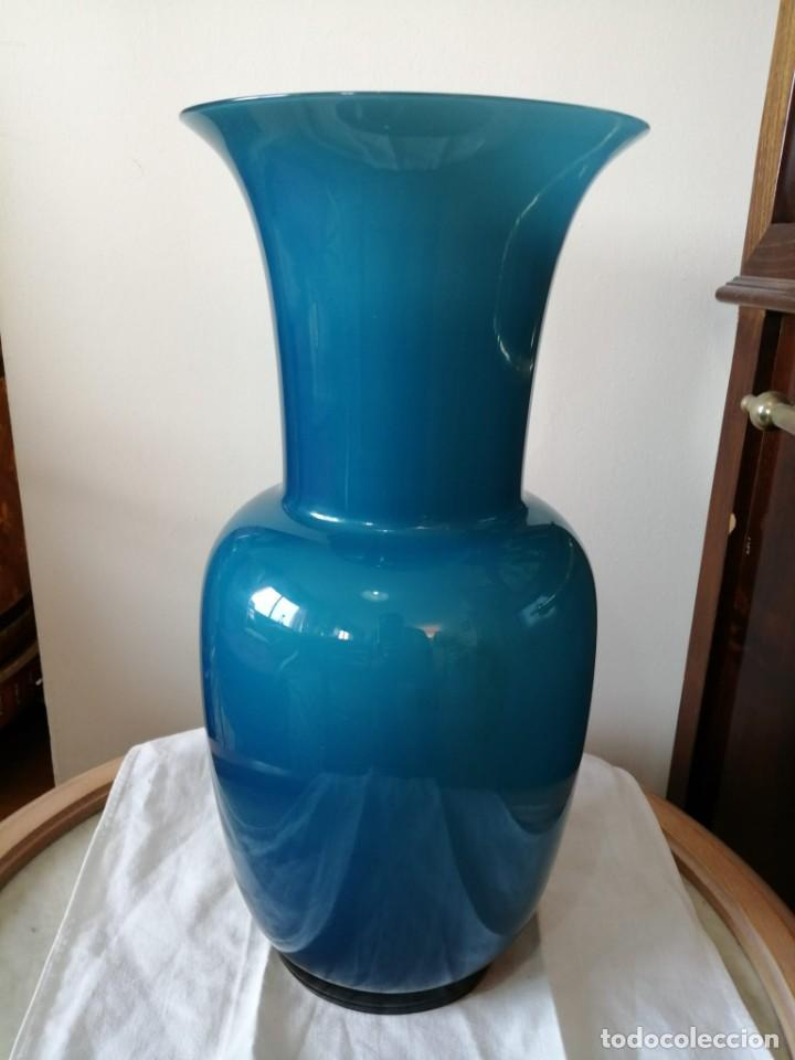 Antigüedades: JARRON DE CRISTAL DE MURANO SOPLADO - Foto 3 - 253706375