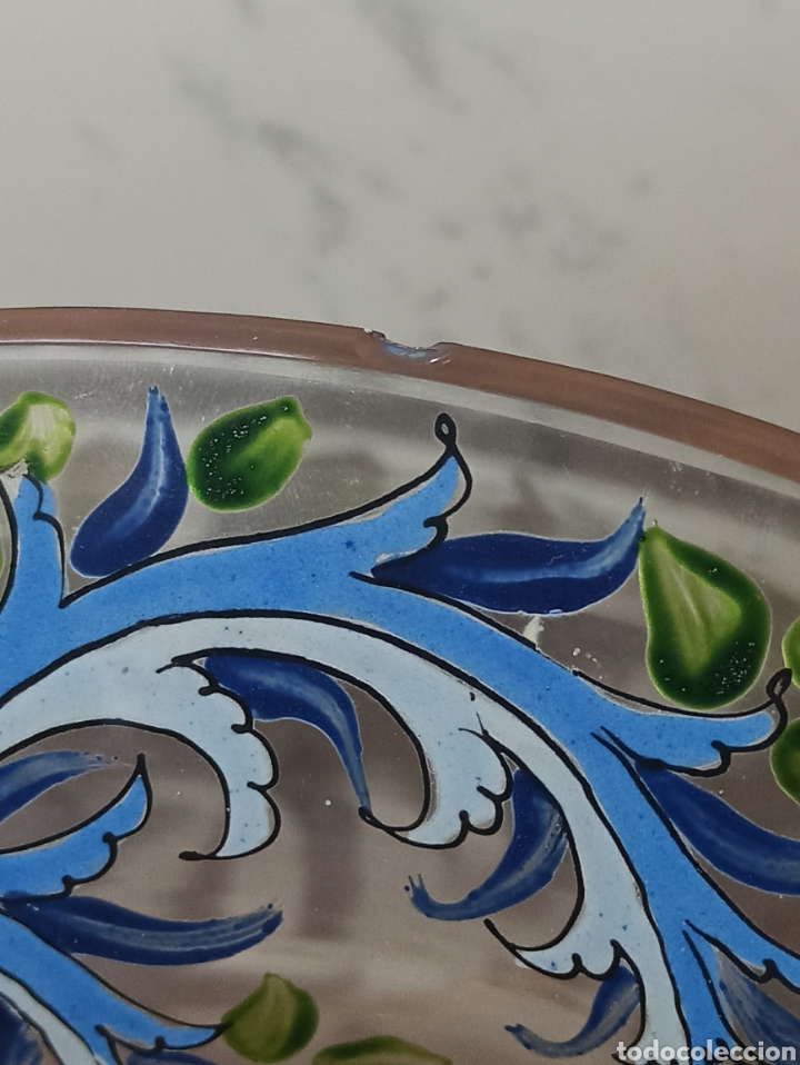 Antigüedades: Jarrón centro de mesa Genís Cirera Cristal Catalán esmaltado Siglo XIX 30,5 cm alto - Foto 9 - 253711905