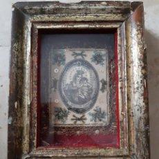 Antigüedades: OR37. ESCAPULARIO ENMARCADO VIRGEN DEL CARMEN. Lote 253722935