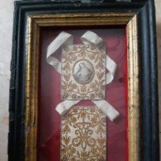 Antigüedades: OR38. ESCAPULARIO ENMARCADO. Lote 253723425