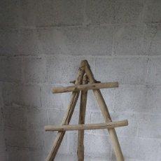Antigüedades: ESCALERA MADERA. Lote 253735795
