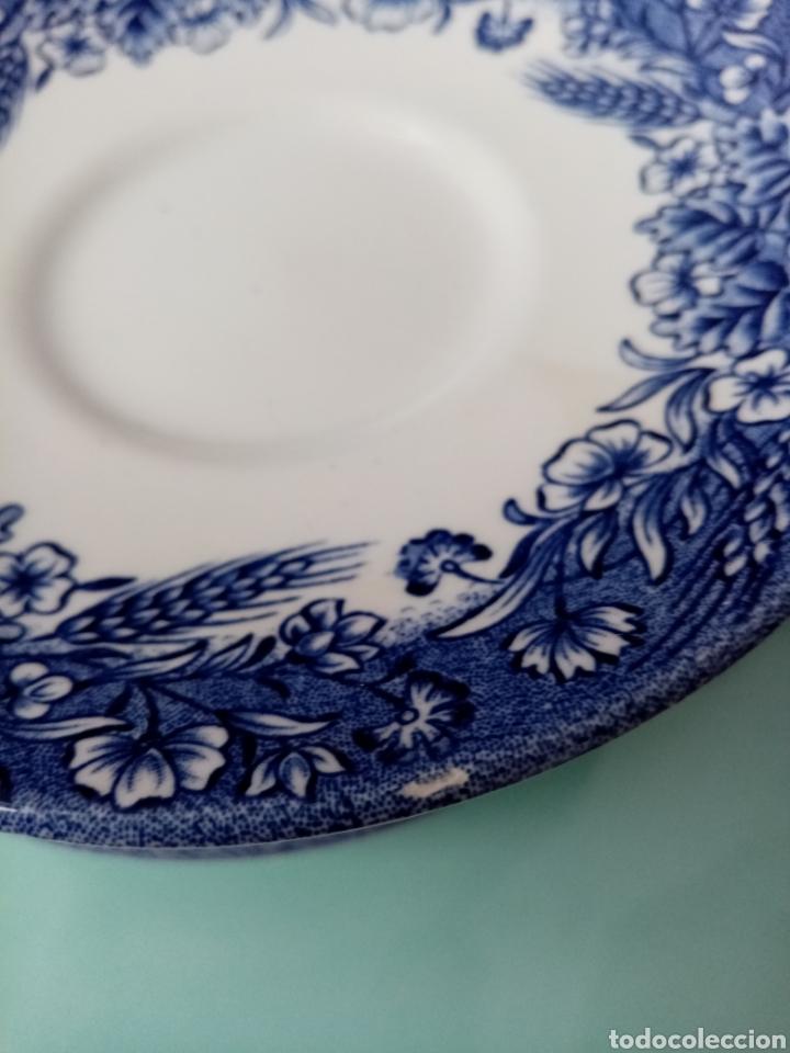 Antigüedades: Lote 8 platos de taza - Porcelana Churchill England - Foto 3 - 253751765