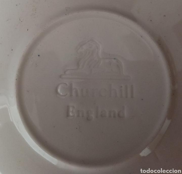 Antigüedades: Lote 8 platos de taza - Porcelana Churchill England - Foto 4 - 253751765