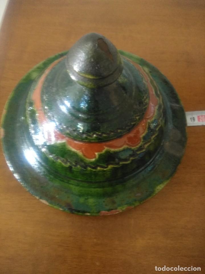 Antigüedades: Tapa de orza de cerámica. - Foto 3 - 253798140