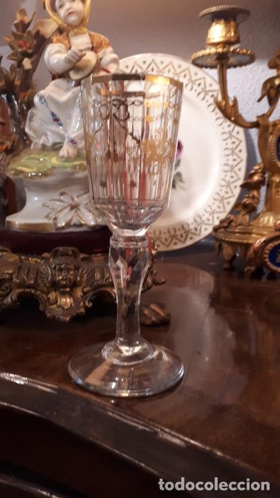 Antigüedades: Copa de cristal de la granja - Foto 6 - 253799800