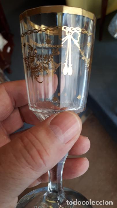 Antigüedades: Copa de cristal de la granja - Foto 3 - 253800395