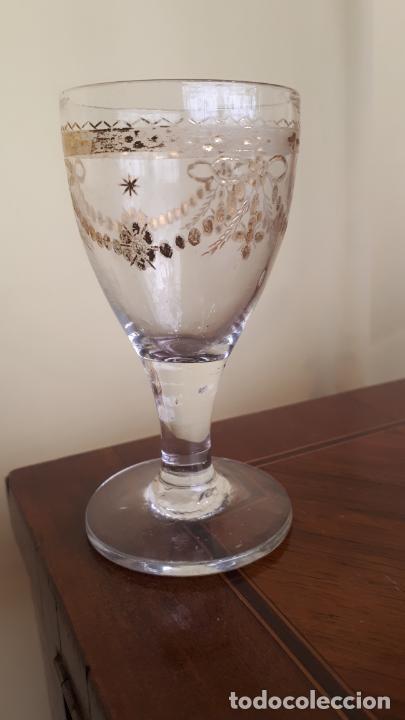 Antigüedades: Copa de cristal de la granja - Foto 3 - 253801180