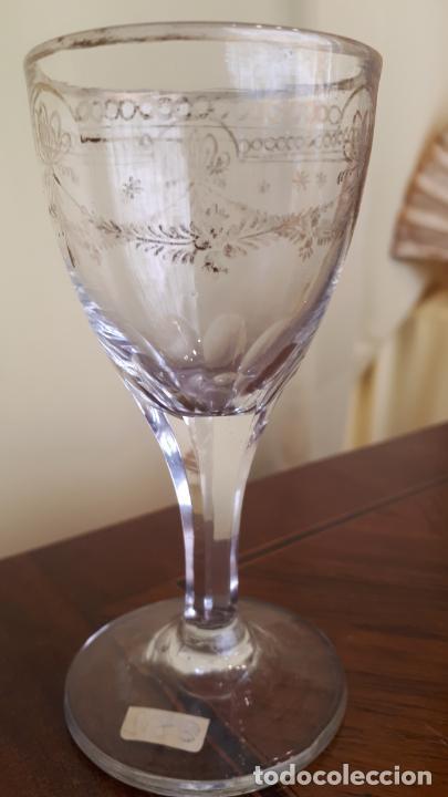 Antigüedades: Copa de cristal de la granja - Foto 3 - 253801870