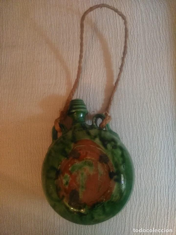 Antigüedades: Botija de cazador de cerámica. - Foto 2 - 253805470