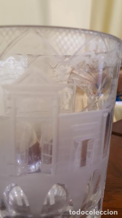 Antigüedades: Vaso de cristal de la granja - Foto 2 - 253809630