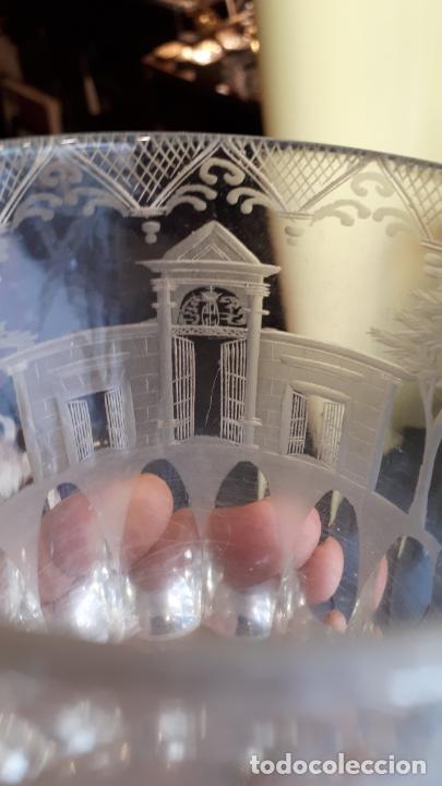 Antigüedades: Vaso de cristal de la granja - Foto 10 - 253809630