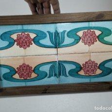 Antigüedades: PANEL CUADRO AZULEJOS CATALANES MODERNISTAS----REF-MO. Lote 253823710
