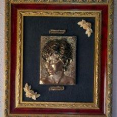 Antigüedades: CUADRO PLATA 925 PRINCESA DE GALES 43 X 38 CM. . VER FOTOS.. Lote 253868395