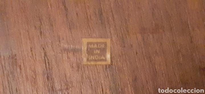 Antigüedades: Mensula o repisa tallada en madera, Made in India, plegable, 38 x 25 cm - Foto 12 - 253919105