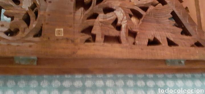 Antigüedades: Mueble Repisa tallada en madera, de la India es plegable, 40x38x15 cm de fondo - Foto 20 - 253920615