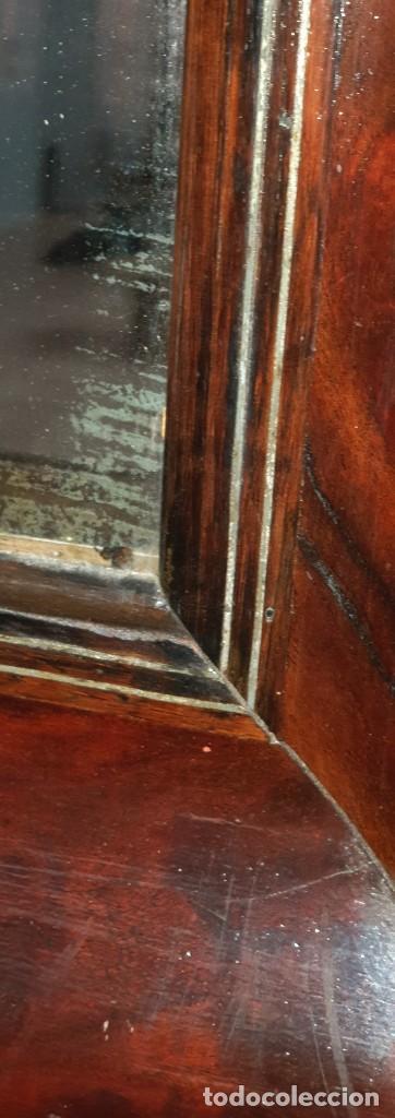 Antigüedades: ESPEJO ISABELINO - JACARANDA Y ZINC - 87,5 X 75,8 CM. - Foto 3 - 253935275
