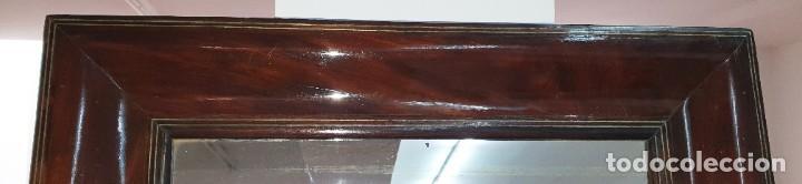 Antigüedades: ESPEJO ISABELINO - JACARANDA Y ZINC - 87,5 X 75,8 CM. - Foto 7 - 253935275