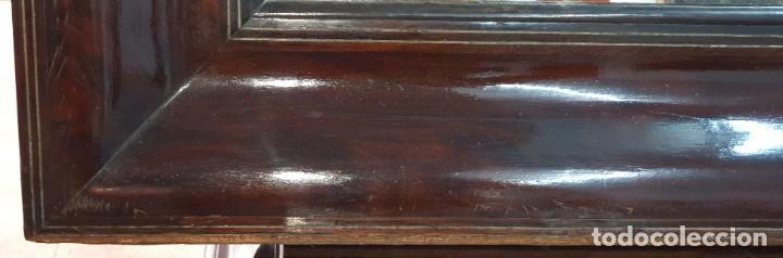 Antigüedades: ESPEJO ISABELINO - JACARANDA Y ZINC - 87,5 X 75,8 CM. - Foto 8 - 253935275