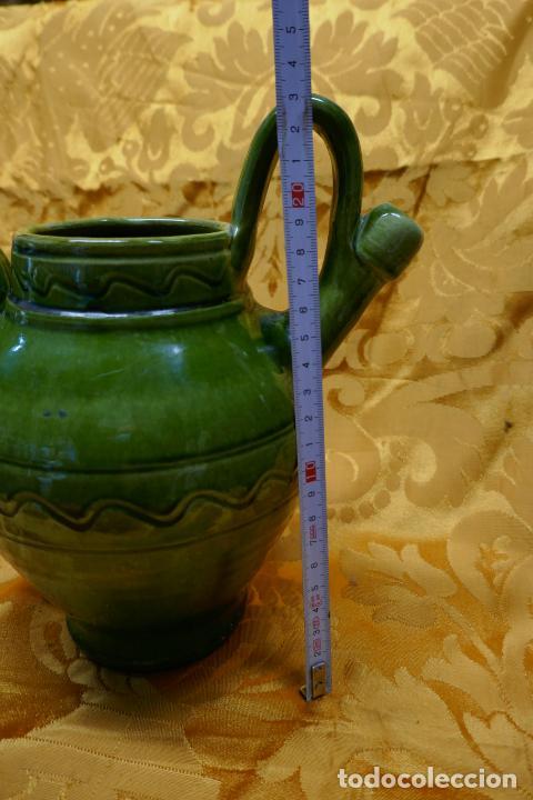 Antigüedades: BOTIJO VERDE DE CERAMICA VIDRIADA, HERMANOS ALMARZA UBEDA - Foto 3 - 253950415